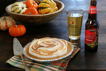 angry orchard cinnful pie with hard cider meringue
