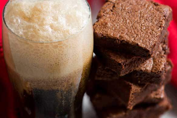 Cream Stout Brownie Ice Cream Float