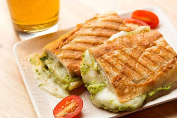 Fresh Mozzarella and Zucchini Pesto Panini