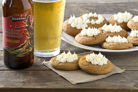 ginger cookies with cider frosting