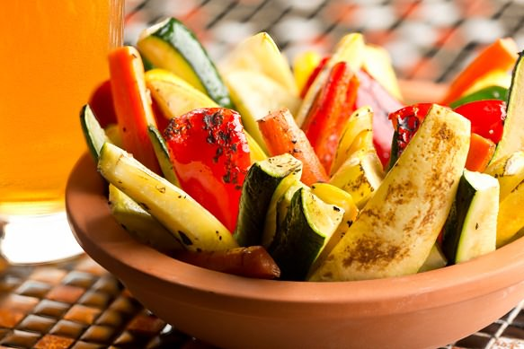 Grilled Cherry Wheat Vegetables