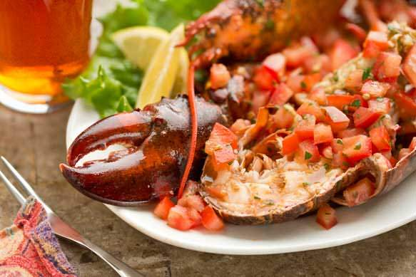 Grilled Lobster with Tomato Vinaigrette