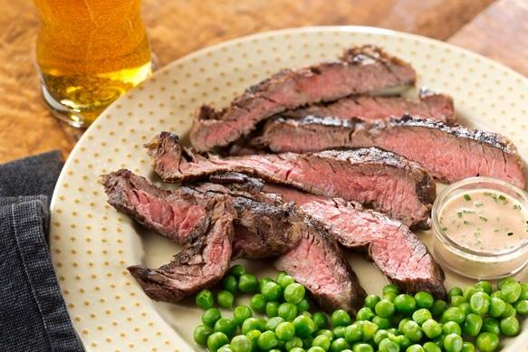 Marinated Strip Steak with Steak Sauce Mayonnaise