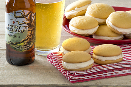 mini cider whoopie pies with angry orchard