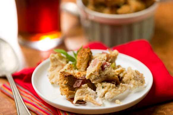 Old Fezziwig Ale Bread Pudding