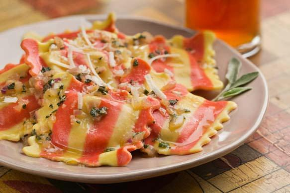 Pumpkin Ravioli with Samuel Adams Octoberfest Brown Butter and Sage