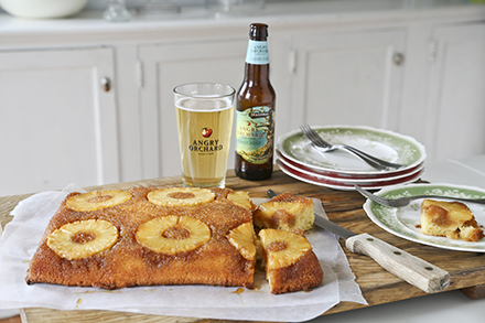 roasted pineapple upside down cake