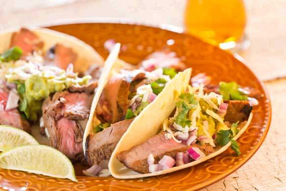 Samuel Adams Boston Lager Grilled Skirt Steak Tacos