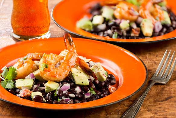 Shrimp and avacado jambalaya salad