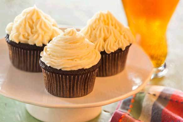 Boston Lager Chocolate Cupcakes