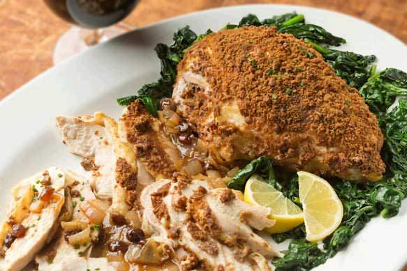 Gingersnap Chicken Breast With Samuel Adams Raisin Gravy