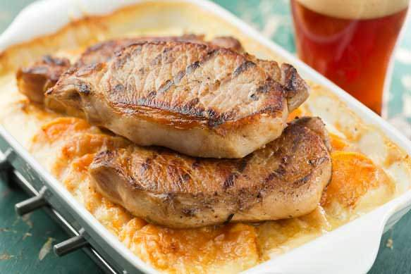 Samuel Adams Irish Red Brined Grilled Pork Chops