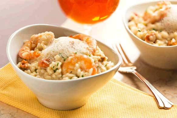 Sea Urchin Risotto with Laughing Bird Shrimp